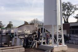 Mobiele beton centrale met Sami silo