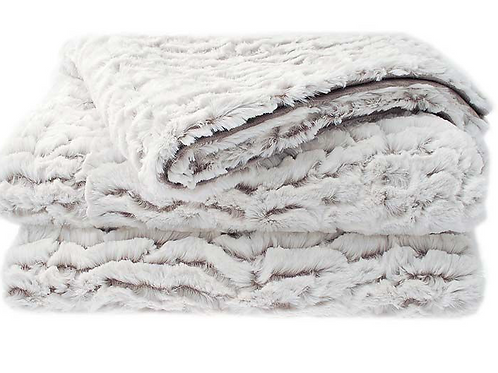 Gigi, a Decadent White Faux Fur Throw, unique interiors at Source for the Goose, Devon