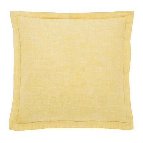 Saffron yellow Chambray cushion, Waltons of Yorkshire interiors at Source for the Goose, Devon