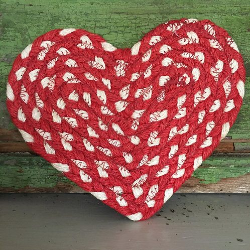 Red and White Heart Shaped Coaster at Source for the Goose