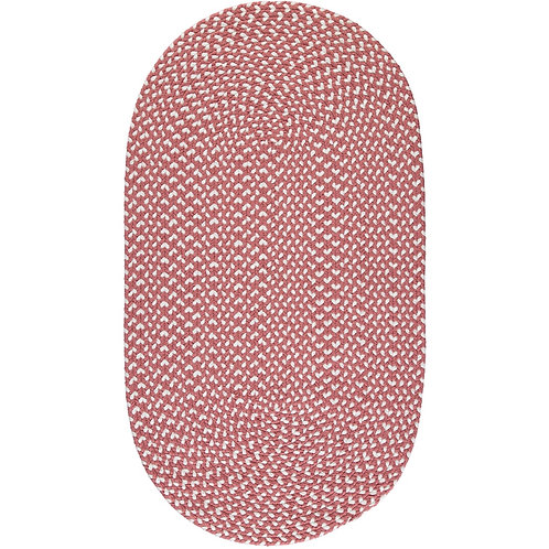 Eco Oval Braided Rug in Dusty Pink made from recycled plastic, The Braided Rug Company at Source for the Goose, Devon