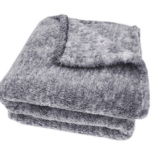 Soft Sherpa Throw in Grey melange from Waltons of Yorkshire, cosy interiors at Source for the Goose , South Molton, Devon
