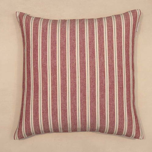 Red Striped Ticking Cushion, french style homewares at Source for the Goose, Devon