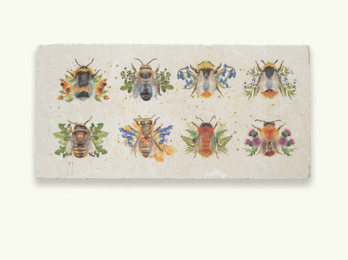 Kate of Kensington Marble Sharing Platter - British Collection Bees. Homewares at Source for the Goose, Devon