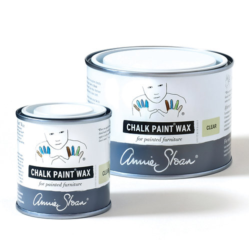Chalk Paint Wax, to protect your painted item, available to buy at Source for the Goose