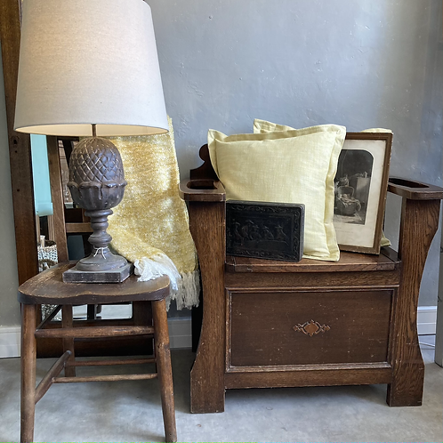 1930s Hall Seat with Storage, secondhand and vintage furniture at Source for the Goose