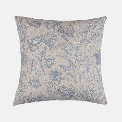 Flora Dove Cushion in Blue/Grey, Biggie Best homewares at Source for the Goose, South Molton