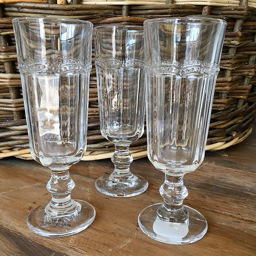 Pretty Chunky Flute Glasses for Sparkling wine at Source for the Goose