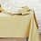 Chambray Tablecloth in Saffron, Waltons of Yorkshire homewares at Source for the Goose