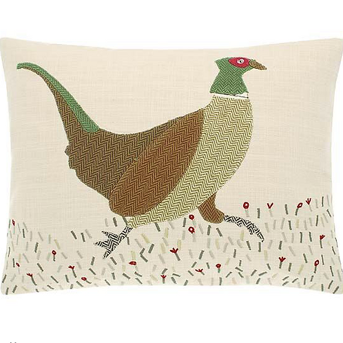 rustic woodland pheasant cushion at Source for the Goose