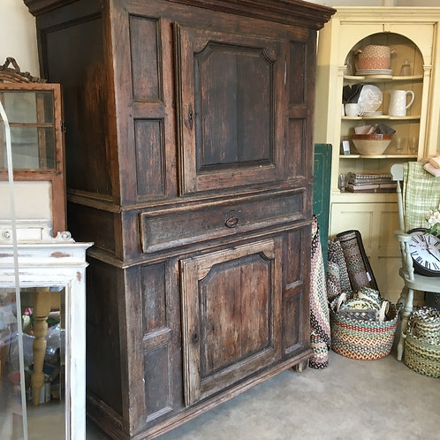 C17th French oak buffet dresser, vintage secondhand furniture at Source for the Goose