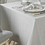 County Ticking Tablecloth in Suffolk Grey, Waltons of Yorkshire homewares at Source for the Goose, South Molton, Devon