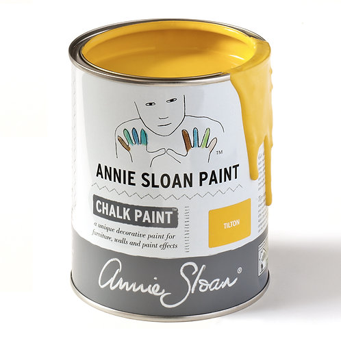 Bright rich mustard yellow, Tilton Chalk Paint at Source for the Goose