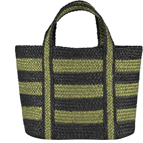 Winter Olive Short Handled Organic Jute Shopper, The Braided Rug Company homewares at Source for the Goose, Devon