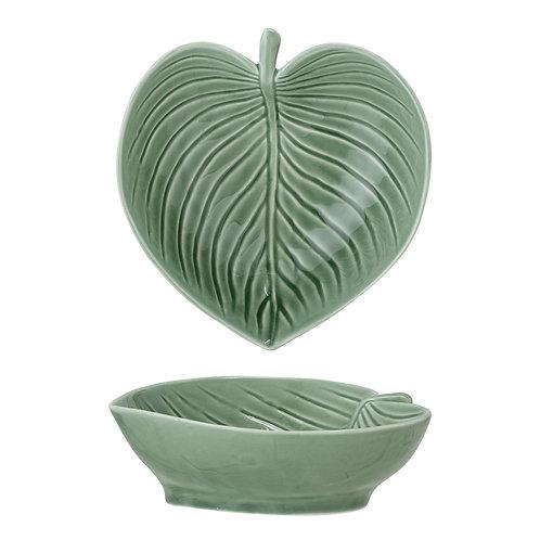 Green Stoneware Leaf Bowl, Bloomingville homewares at Source for the Goose, Devon