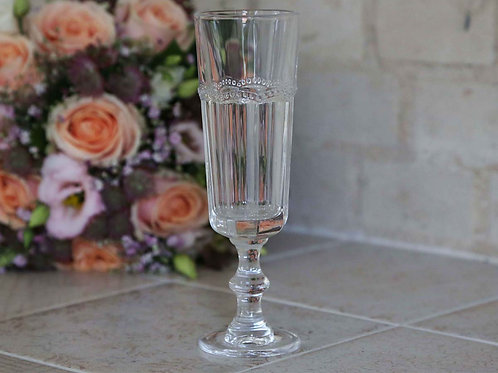 Pretty French Style Antoinette Champagne Glass, to buy at the lifestyle shop at Source for the Goose, Devon