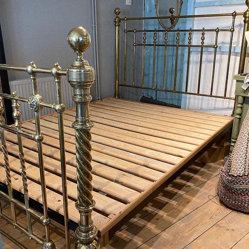 Edwardian Brass 5 Foot Bed