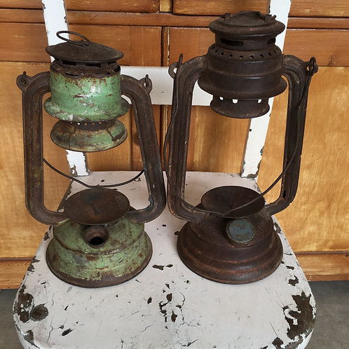 Rusty Miner's Style Lamp Candleholder at Source for the Goose