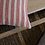 Red Striped Ticking Cushion, vintage style interiors at Source for the Goose, Devon