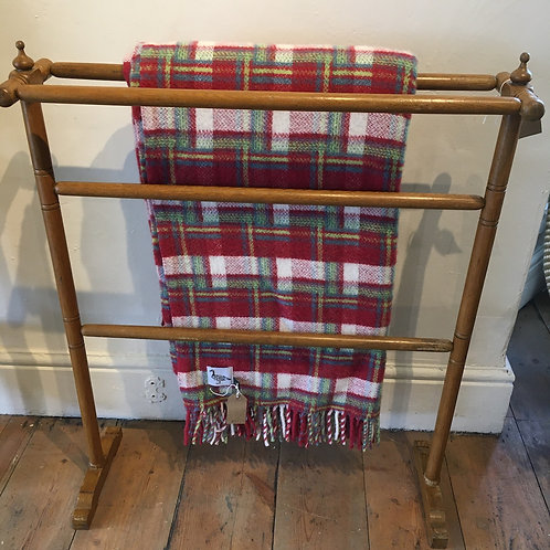 Edwardian wooden Towel Rail, vintage home interiors at Source for the Goose, Devon