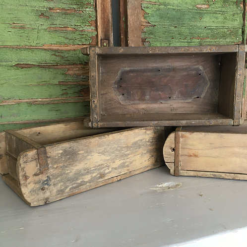 French Style Wooden Brick Mould Boxes, for use in a rustic interiors scheme, buy in Devon