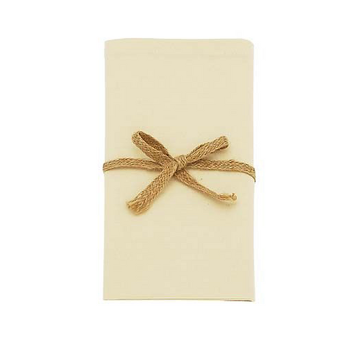 Warm White set of four cotton napkins by Waltons of Yorkshire, homewares at Source for the Goose, Devon