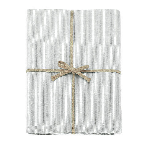 County Ticking Tablecloth in Suffolk Grey from Waltons of Yorkshire, homewares at Source for the Goose, Devon