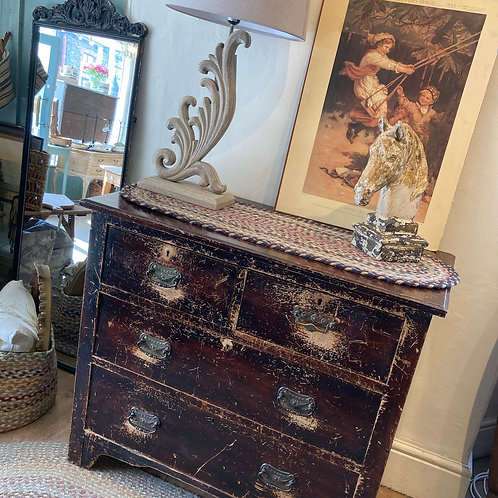 Vintage, secondhand pine chest of drawers at Source for the Goose