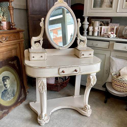 French Style Dressing Table with Mirror, shabby chic interiors at Source for the Goose