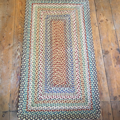 Jute Rectangle Braided Rug in Carnival Colourway at Source for the Goose