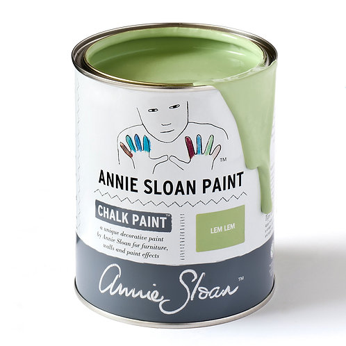 Lem Lem Chalk Paint, a soft warm green available at Source for the Goose