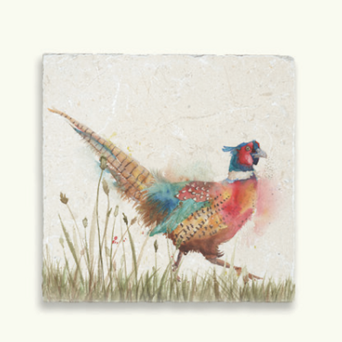 Kate of Kensington Pheasant in Grass Marble Trivet, country style interiors at Source for the Goose, Devon