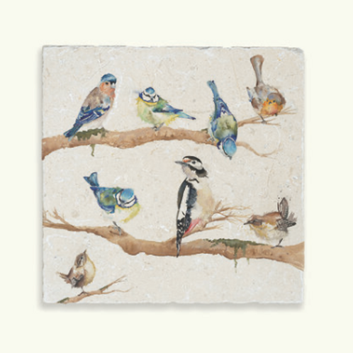 Kate of Kensington Garden Part Marble Trivet,  british birds design homeware at Source for the Goose