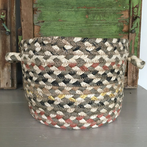 Muted colour way Granite Braided Rug basket available to buy at Source for the Goose