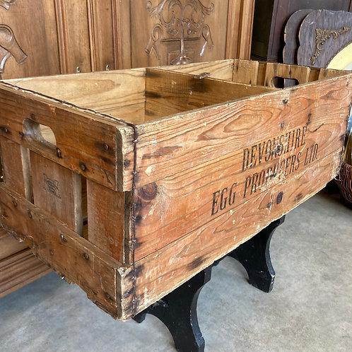 Vintage wooden crate, Devonshire Egg Producers
