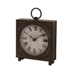 Cast iron effect Industrial Look Square Clock, Interiors from London Ornaments at Source for the Goose, Devon