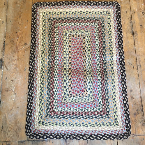 Misty Blue colour way braided rug to buy at Source for the Goose