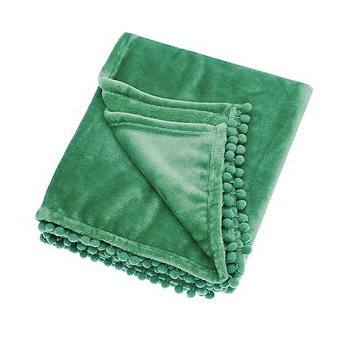 Cashmere Touch Spruce Green Throw at Source for the Goose