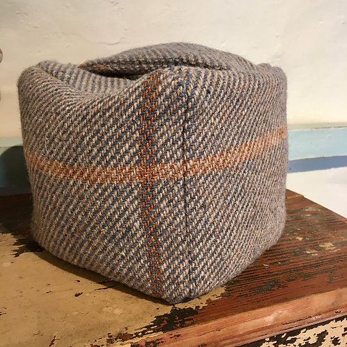 Pretty Tweed Woven Wool Doorstop, made in the UK, interiors styling at Source for the Goose