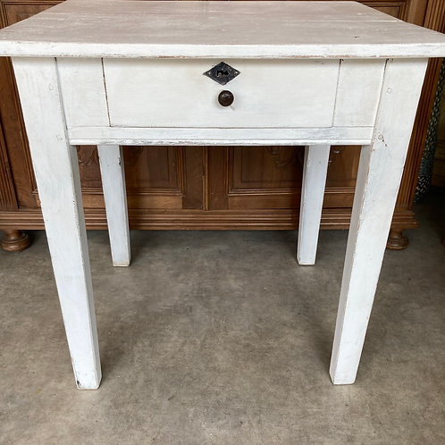 White square rustic french table, vintage interiors at Source for the Goose, Devon