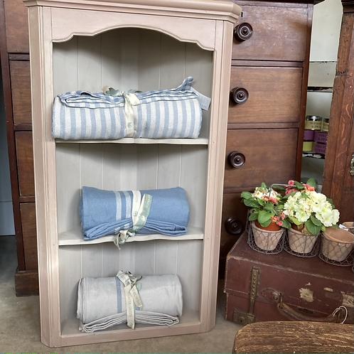 Sweet Little Corner Shelf, painted vintage furniture at Source for the Goose