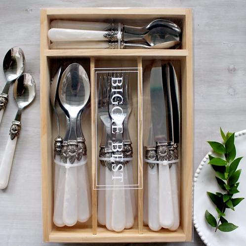 Pearl Handle Cutlery Set