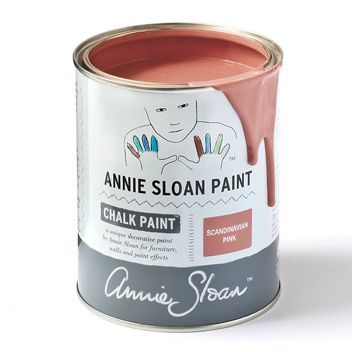 Tin of Scandanavian Pink Chalk Paint available in Devon