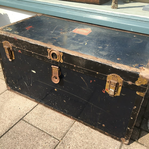 Large Lion Brand Steamer Trunk, by Vancouver Trunk and Bag Ltd  At Source for the Goose