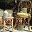 Vintage wicker chair and stool, vintage interiors at Source for the Goose Devon