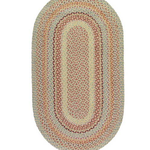 The Pampas Organic Jute Rug in Oval, Braided Rugs at Source for the Goose, Devon