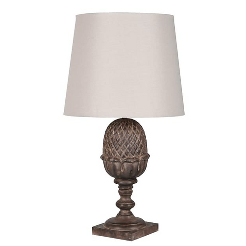 Acorn Lamp with Linen Shade