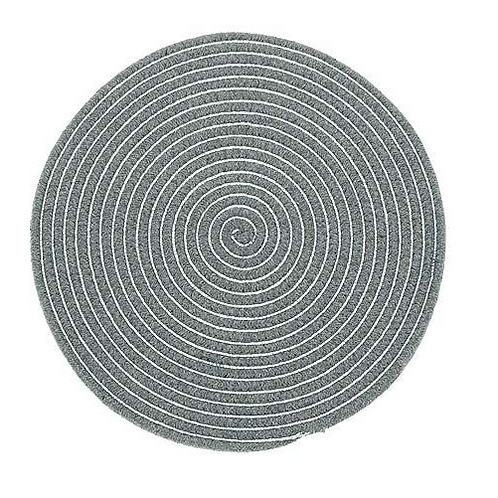 Set of  Six Storm Grey and Silver Rope Placemats, circular design, Waltons of Yorkshire at Source for the Goose, Devon