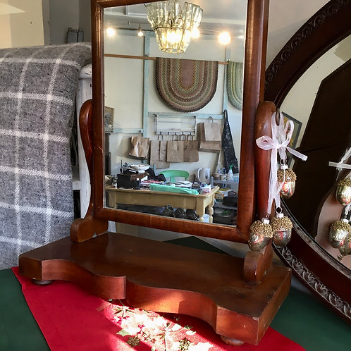 Pretty Edwardian Swing Dressing Table Mirror, secondhand vintage furniture at Source for the Goose, Devon