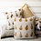 Recycled cotton Pear Design Cushion in Olive Green, interiors at Source for the Goose